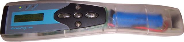 OEM laser comb design by Dermaray with clear plastic.