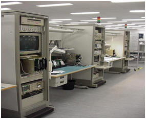 Electronic testing and calibration equipment for Dermaray.
